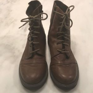 OTBT Brown Lace up Leather Boots-size 6.5